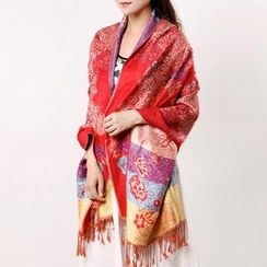 RGLT Scarves - Fringed Patterned Scarf