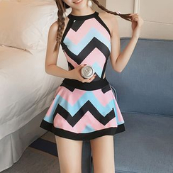 Roseate - Chevron Swimdress