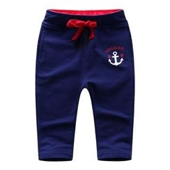 Endymion - Kids Anchor Print Drawstring Pants