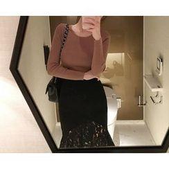 Marlangrouge - Lace-Trim Mermaid Skirt