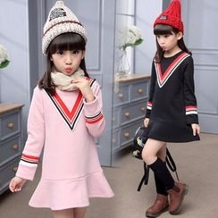 Pegasus - Kids Chevron Long-Sleeve Dress