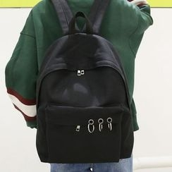 Seok - Metal Ring Detailed Backpack