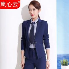Skyheart - Set: Plain Blazer + Dress Pants / + Skirt / + Shirt