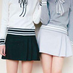 SUYISODA - Woolen Pleated Skirt