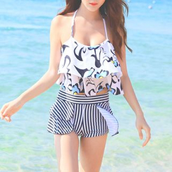 Sewwi - Ruffle Trim Floral Print Bikini