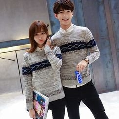 CASSY - Patterned Couple Matching Sweater
