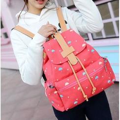 MooMoo Bags - Printed Canvas Backpack