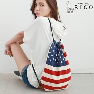 rico - Stripe & Star-Print Backpack