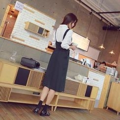 WITH IPUN - Tie-Waist Jumper Skirt