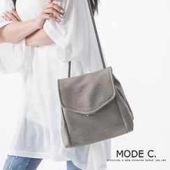 MODE C. - Faux-Leather Backpack / Cross Bag
