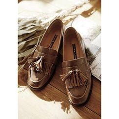 GOROKE - Tasseled Faux-Leather Loafers