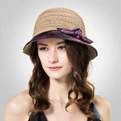 BADA - Two-Tone Ribbon Sun Hat
