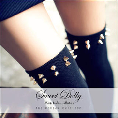 JVL - Studded Long Socks