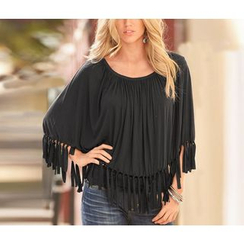 Dream a Dream - Off Shoulder Fringed Top