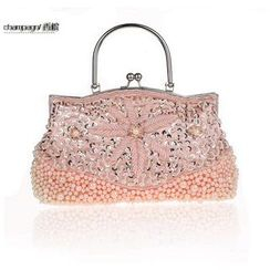 Glam Cham - Beaded Embroidered Clutch