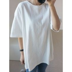 STYLEBYYAM - Loose-Fit Short-Sleeve T-Shirt