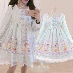 GOGO Girl - Long-Sleeve Printed A-line Dress