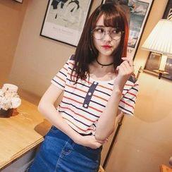 Wimi girls - Short-Sleeve Striped T-Shirt