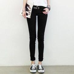 NANING9 - Cotton Blend Skinny Pants