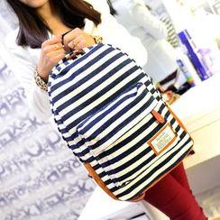 Seok - 条纹帆布背包