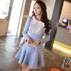 Dabuwawa - Tweed Collared Dress