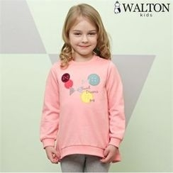 WALTON kids - Girls Layered-Trim Printed Sweatshirt