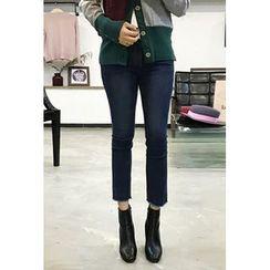 OZNARA - Fleece-Lined Straight-Cut Jeans