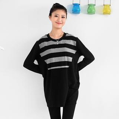 59 Seconds - Stripe Long-Sleeved Top