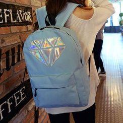 Seok - 钻石图案尼龙背包