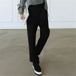 CHICFOX - Fleece-Lined Tapered Pants