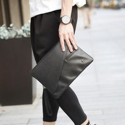 BagBuzz - Faux Leather Flap Clutch