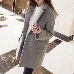 looknice - Woolen Long Coat