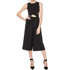 Obel - Cut Out Detailed Sleeveless Jumpsuit