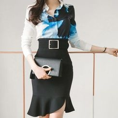 Aurora - Set: Printed Shirt + Skirt