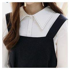 Sechuna - Long-Sleeve Stitched Shirt