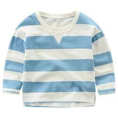 Kido - 小童长袖条纹T恤
