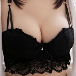 HYG Lingerie - Set: Lace Push-Up Bra + Panties