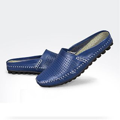 NOVO - Genuine Leather Perforated Slippers