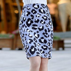 Swish - Leopard Print Pencil Skirt
