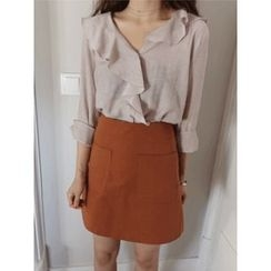 maybe-baby - Frilled-Detail Blouse