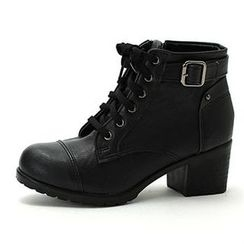 MODELSIS - Lace-Up Ankle Boots
