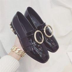 kokoin - 綴飾扣帶樂福鞋
