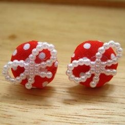Fit-to-Kill - Lovely Red Button Earrings