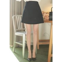 MyFiona - Banded-Waist A-Line Skirt