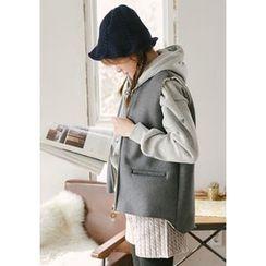 GOROKE - Fleece-Lined Wool Blend Zip Vest