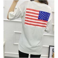 Oaksa - Long-Sleeve Print T-Shirt