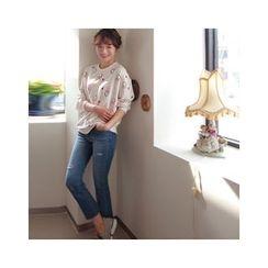 LEELIN - Patterned Cotton Sweatshirt