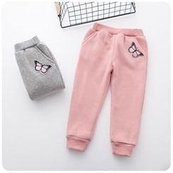 Rakkaus - Kids Fleece-Lined Applique Pants