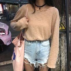 Cloud Nine - Plain Long-Sleeve Knit Top