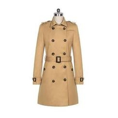 Linda Fashion - Double-Breasted Trench Coat